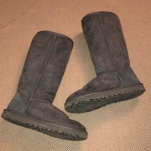 UGG Gray Classic Tall II Boot